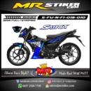 Stiker motor decal Satria F New FI Shark Blue