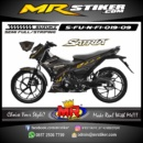 Stiker motor decal Satria F New FI Gold Phantom