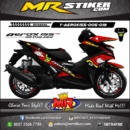Stiker motor decal Aerox 155 via-via Shark