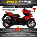 Stiker motor decal Aerox 155 Flame Red