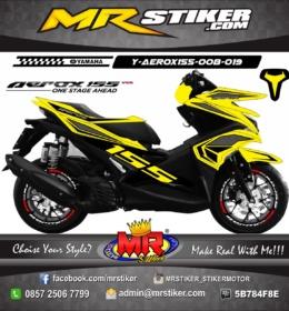 Stiker motor decal Aerox 155 Yellow Grafis Simple