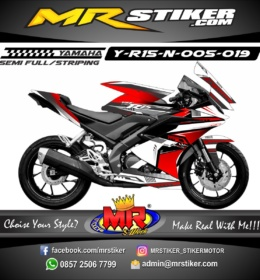 Stiker motor decal Yamaha R15 New The Red Simple Grafis