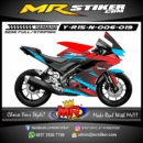 Stiker motor decal Yamaha R15 New Star Blue