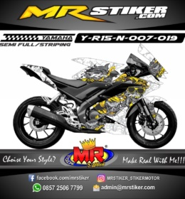 Stiker motor decal Yamaha R15 New Zombie Pig Go to Hell