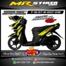 Stiker motor decal SoulGT New Yellow simple Grafis