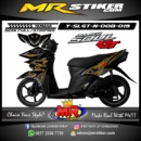 Stiker motor decal SoulGT New Gold Line Grafis