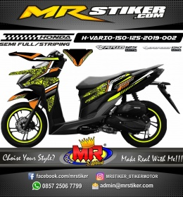 Stiker motor decal vario 150 grafis motif batik