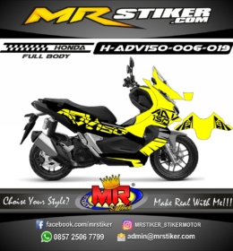 Stiker motor decal ADV 150 Puzzle (FULLBODY)