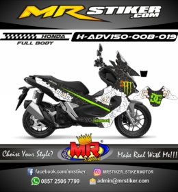 Stiker motor decal ADV 150 DC Block X Monster Energy (FULLBODY)