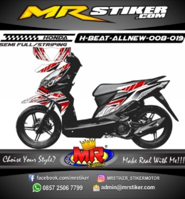 Stiker motor decal Beat AllNew Tribal