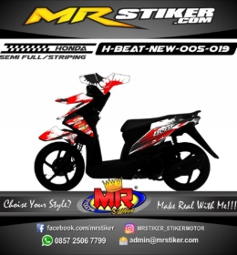 Stiker motor decal Beat New Splater Racing