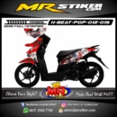 Stiker motor decal Beat Pop Samurai X