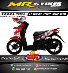 Stiker motor decal Beat Pop Samurai X