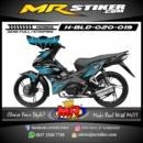 Stiker motor decal Blade blue carbon grafis