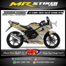 Stiker motor decal CBR 150 Old Camo Gold