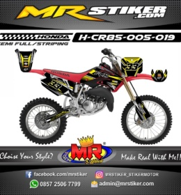 Stiker motor decal CR 85 Fox Yellow grafis