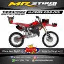 Stiker motor decal CR 85 Red Racing