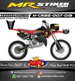 Stiker motor decal CR 85 Black Gold Motocross