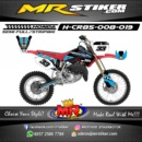 Stiker motor decal CR 85 Blue SuperMoto