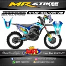 Stiker motor decal CRF 150 Lokal Blue Gradation