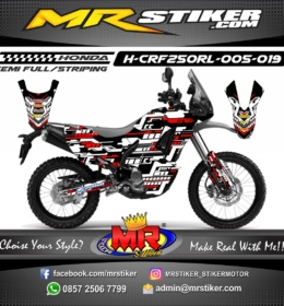 Stiker motor decal CRF 250 Rally Techno Mega