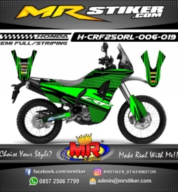 Stiker motor decal CRF 250 Rally Line Green style