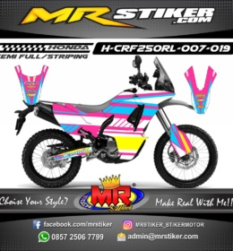 Stiker motor decal CRF 250 Rally Pinky Blue