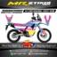 Stiker motor decal CRF 250 Rally Pinky Blue