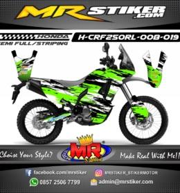 Stiker motor decal CRF 250 Rally Splat Green