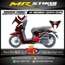 Stiker motor decal Genio Tribal Red Gradation