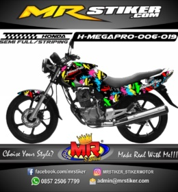 Stiker motor decal Megapro The Direction colorfull