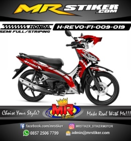 Stiker motor decal Revo FI Alpinestar abstrak