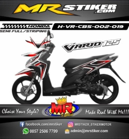 Stiker motor decal Vario CBS Red Black Gradation