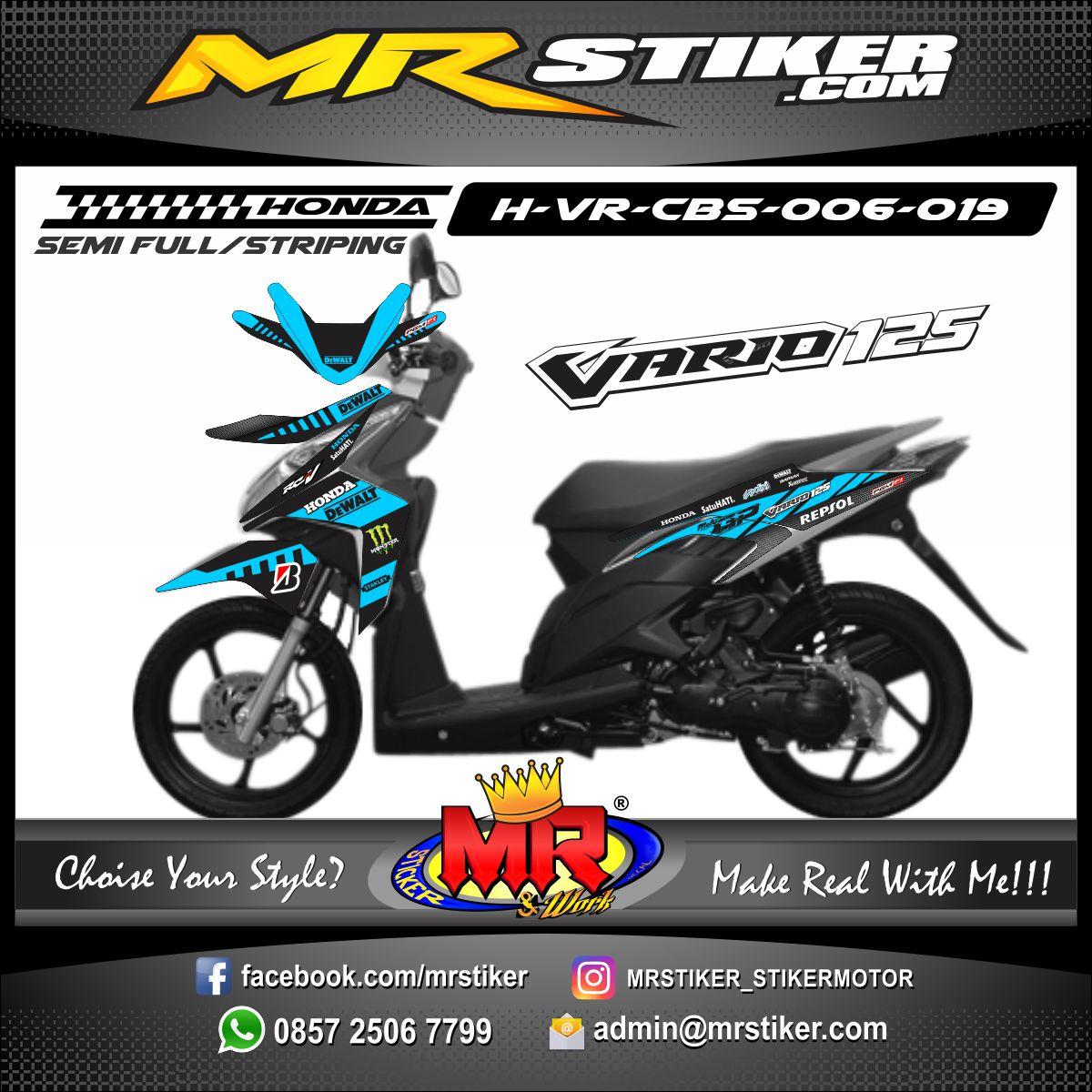 Stiker motor decal Vario CBS Race 1