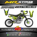 Stiker motor decal KLX 140 alpinestar green