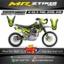 Stiker motor decal KLX 140 alpinestar green