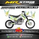 Stiker motor decal KLX 140 batik flowers