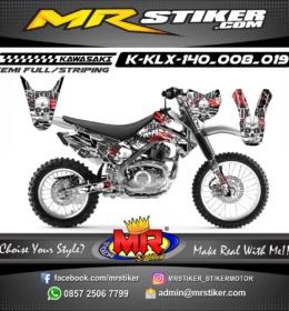 Stiker motor decal KLX 140 SIKSPAK