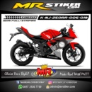 Stiker motor decal Ninja 250RR Mono Red Mega