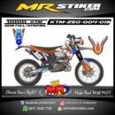 Stiker motor decal KTM 250 Orange blue wings