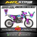 Stiker motor decal KTM 250 purple blue neon