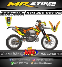 Stiker motor decal KTM 250 splat racing