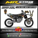 Stiker motor decal KTM 250 New The gold Road Runner