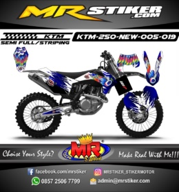 Stiker motor decal KTM 250 New tld Wings