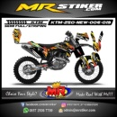 Stiker motor decal KTM 250 New crush grafis