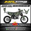 Stiker motor decal KTM 250 SX camo