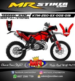 Stiker motor decal KTM 250 SX Red Black