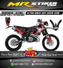 Stiker motor decal KTM 250 SX Skull Garage