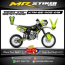 Stiker motor decal KTM 85 Race alpinestars