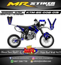 Stiker motor decal KTM 85 Fox Blue
